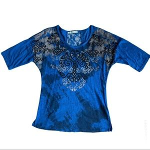 🎉3for$15🎉 Maurices Blue Back Laced top Blouse
